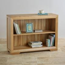 Tủ sách thấp Bevel gỗ sồi
