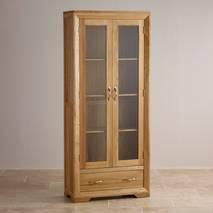 Tủ trưng bày Bevel 2 cánh kính gỗ sồi