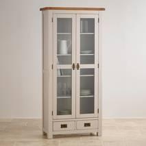 Tủ trưng bày 2 cánh kính Kemble gỗ sồi