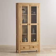 Tủ trưng bày Oakdale 2 cánh kính gỗ sồi