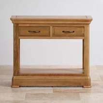 Bàn console 2 ngăn kéo Canterbury gỗ sồi