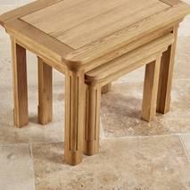 Bộ bàn xếp lồng Canterbury gỗ sồi