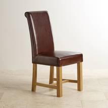 Bộ bàn ăn Alto 6 gỗ sồi ghế bọc da