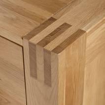 Tủ chén thấp Alto loại lớn gỗ sồi