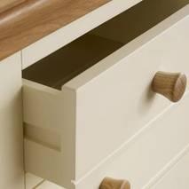 Tủ ngăn kéo 3+4 Country Cottage gỗ sồi