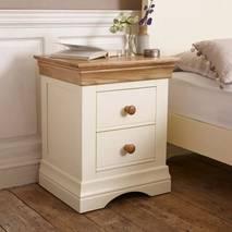 Tủ đầu giường 2 ngăn kéo Country Cottage gỗ sồi