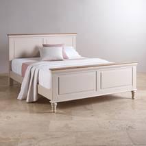 Giường đôi Shay gỗ sồi