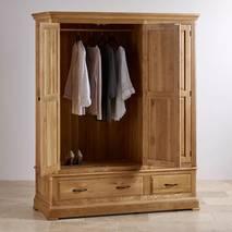 Tủ áo 3 cánh Canterbury gỗ sồi