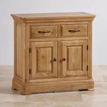 Tủ chén thấp Canterbury loại nhỏ gỗ sồi