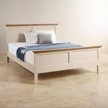 Giường đôi Seychelles gỗ sồi