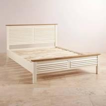 Giường đôi Shutter gỗ sồi