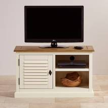 Tủ TV 1 cánh Shutter gỗ sồi