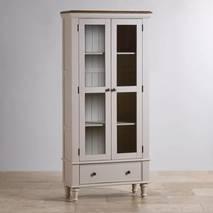 Tủ trưng bày 2 cánh kính Shay gỗ sồi