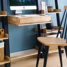 Bộ bàn liền kệ 3 món NB-Blue