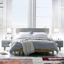 Giường đôi Rora - Grey