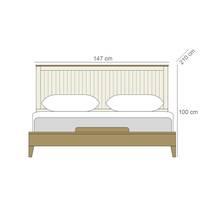 Giường đôi Rora - Ivory
