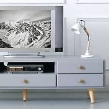 Tủ TV 5 ngăn kéo Rora - Grey