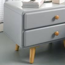 Tủ đầu giường 2 ngăn kéo Rora - Grey