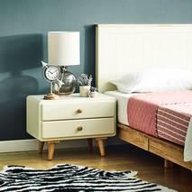 Tủ đầu giường 2 ngăn kéo Rora - Ivory