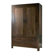 Tủ quần áo 2 cánh 2 ngăn kéo Lyon gỗ óc chó
