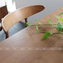 Bộ bàn ghế ăn Suwon màu mahogany