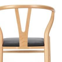 Ghế Wishbone mặt simili màu tự nhiên