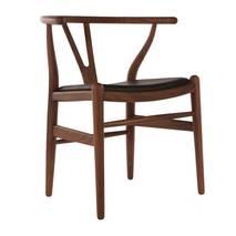 Ghế Wishbone mặt simili màu walnut