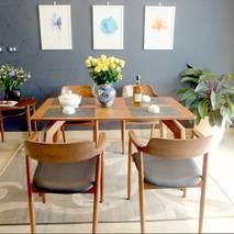 Bộ bàn ăn Praha màu walnut
