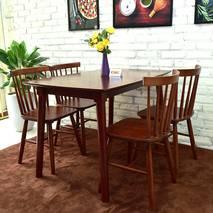 Bộ bàn ăn 4 ghế Pinnstol Alpha màu nâu