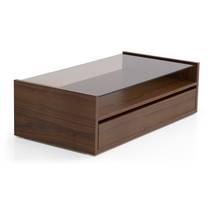 Bàn trà sofa Osaka 1 ngăn kéo màu gỗ tự nhiên walnut nghiêng 45