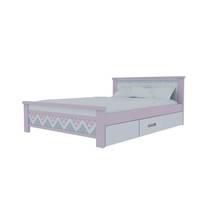 Giường đơn có ngăn kéo in hoa văn 2