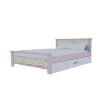 Giường đơn có ngăn kéo in hoa văn 3