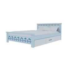 Giường đơn có ngăn kéo in hoa văn 6