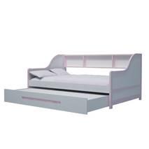 Giường tầng lùn trẻ em màu hồng nhạt