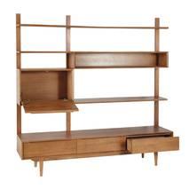 Hệ tủ kệ đa tầng Portobello phong cách Vintage gỗ tự nhiên