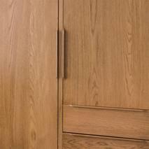Tủ quần áo 2 cánh Portobello phong cách Vintage gỗ tự nhiên 1m