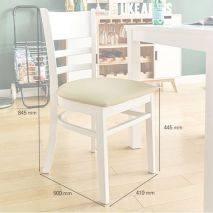 Bộ bàn ăn ghế băng 4 chỗ Ulsan màu trắng 4