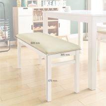 Bộ bàn ăn ghế băng 4 chỗ Ulsan màu trắng 5