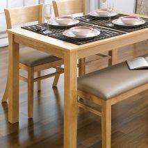 Bộ bàn ăn ghế băng 4 chỗ Ulsan màu tự nhiên 2