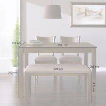 Bộ bàn ăn ghế băng 4 chỗ Ulsan màu antique 7