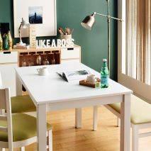 Bộ bàn ăn ghế băng 4 chỗ Ulsan màu trắng 6