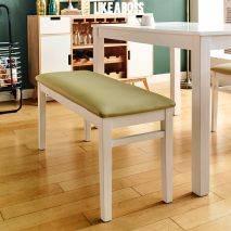 Bộ bàn ăn ghế băng 4 chỗ Ulsan màu trắng 7