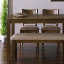 Bộ bàn ăn ghế băng 4 chỗ Ulsan màu antique 4