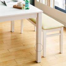 Bộ bàn ăn ghế băng 4 chỗ Ulsan màu trắng 2
