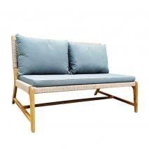 Bộ sofa ngoài trời Aveas gỗ keo đan dây 3