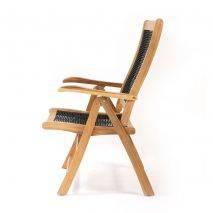 Ghế Gili Selang gỗ keo lưng ngả 5 bậc đan dây rope 3