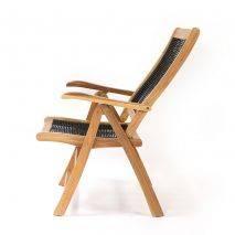 Ghế Gili Selang gỗ keo lưng ngả 5 bậc đan dây rope 4