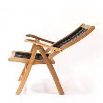 Ghế Gili Selang gỗ keo lưng ngả 5 bậc đan dây rope 6