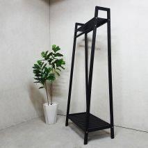 Kệ treo quần áo Trape 2 tầng màu đen
