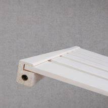 Kệ treo quần áo Trape 2 tầng màu trắng